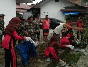 Koramil Kuala Ajarkan Siswa SMP Budaya Hidup Bersih, Begini Caranya