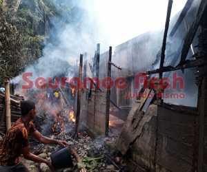 Rumah Warga di Tangan-tangan Abdya Terbakar