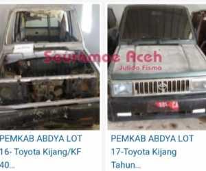Pemkab Abdya Lelang 40 Mobil Dinas Dari Yang Direncakan Sebelumnya 57 Unit