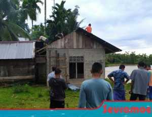 Abrasi Krueng Meurebo, Sejumlah Rumah di Aceh Barat Terbawa Arus