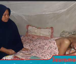 Sedih! Perjuangan Seorang Istri Untuk Kesembuhan Sang Suami