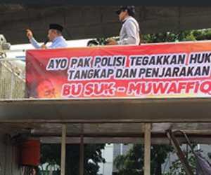Tuntut Penista Agama Diproses, Massa PA 212 Gelar Aksi di Mabes Polri