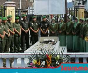 Di Hari Juang TNI AD ke 74, Kodim 0110 Abdya Ziarah ke Makam Pahlawan