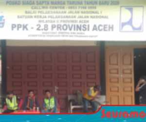 Jelang Tahun Baru, PJN Wilayah II Dirikan Posko Siaga di Nagan Raya