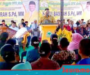 Jaring Aspirasi Masyarakat, Anggota DPRA H. Ali Basrah Turun ke Agara