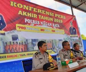 Tahun 2019, Tindak Kriminal Turun 33 Persen di Nagan Raya