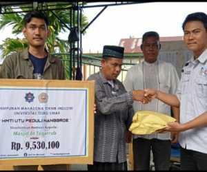 HMTI UTU Salurkan Bantuan Kepada Korban Kebakaran di Aceh Utara
