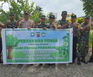 Peduli Penghijauan Polres Abdya Tanam 650 Pohon