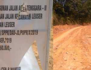 Pembukaan Jalan Kecamatan Louser Disinyalir Tumpang Tindih Anggaran