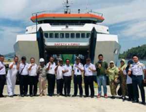 KMP Teluk Sinabang Sukses Bersandar di Pelabuhan Calang Aceh Jaya