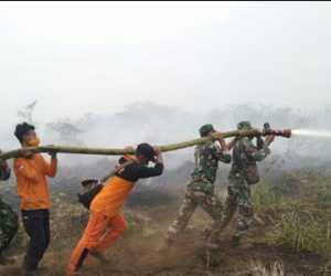 152 Personel Gabungan Padamkan Kebakaran Lahan di Nagan Raya