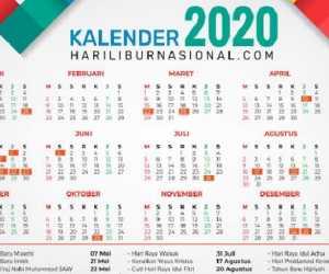 Cuti Bersama Tahun 2020, Berikut Daftar Lengkapnya