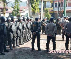 Jelang Aksi GeRAM, Aparat Keamanan Siaga di Gedung DPRK Aceh Barat