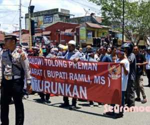 Massa GeRAM Geruduk DPRK Aceh Barat, Ini Tuntutannya