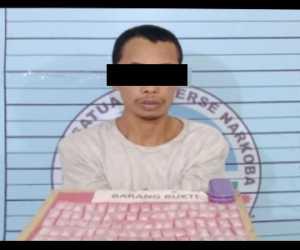 Kedapatan Miliki Puluhan Paket Sabu Seorang Pemuda Ditangkap Polisi