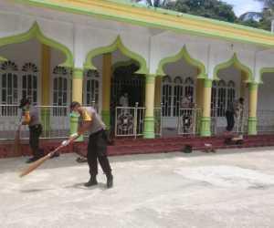Cegah Corona, Polsek Manggeng Ajak Warga Abdya Jaga Kebersihan Lingkungan