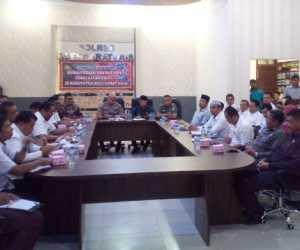 Polres Gelar Rapat Koordinasi Antisipasi Penyebaran Covid-19 di Abdya