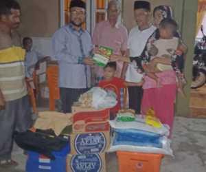 Wabup Abdya, Berikan Santunan Kepada Istri Pak Irwandi