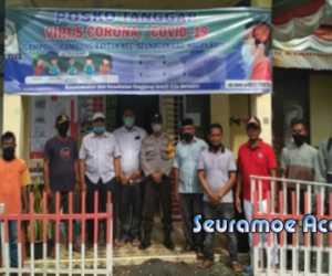 Cegah COVID-19, Desa Rambong Rayeuk Kerja Sama Dengan PMI Nagan Raya