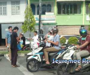 RPC-19 dan DPW PA Aceh Barat Bagikan Masker Untuk Pengguna Jalan