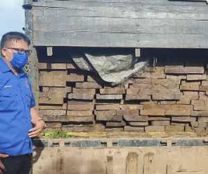 Truk Berisi Kayu Diduga Ilegal Diamankan Polsek Krueng Sabe Aceh Jaya