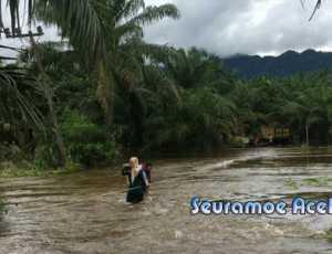 Hujan Deras Guyur Aceh Selatan, Trumon Tengah Dikepung Banjir