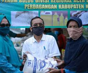 Disperindagkop Nagan Raya Gelar Pasar Murah di Purwodadi