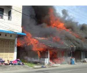 5 Unit Ruko Semi Permanen di Abdya Terbakar, Berikut Nama Pemiliknya