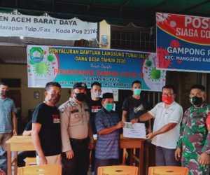 69 Orang Warga Gampong Paya Kecamatan Manggeng, Terima BLT dari Desa