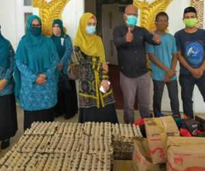 Istri Plt Gubernur Aceh, Salurkan Bantuan Kepada Sahabat Nova Nagan Raya
