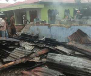 Dua Unit Ruko Terbakar di Aceh Timur