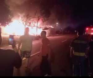 Satu Unit Wakop dan Gudang di Abdya Terbakar