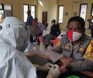 Puluhan Personel Polres Nagan Raya Jalani Rapid Test