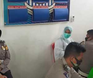 Sambut Hari Bhayangkara Ke 74 Satlantas Polres Aceh Jaya Lakukan Rapid Test