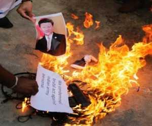 India Murka Atas Insiden Berdarah Dengan Membakar Foto Presiden China Xin Jinping