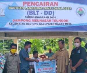 Desa Meunasah Tengeh Cairkan BLT Tahap II