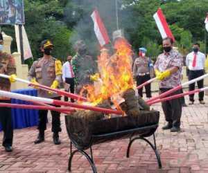 Polda Aceh Musnah Sabu-sabu 141 Kilogram dan 100 Ribu Butir Pil Ekstasi