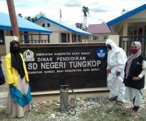 100 dari 566 Sekolah Disterilkan Oleh PMI Aceh Barat