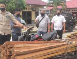 Diduga Pelaku Illegal Logging, Tiga Warga Diamankan Polres Aceh Singkil