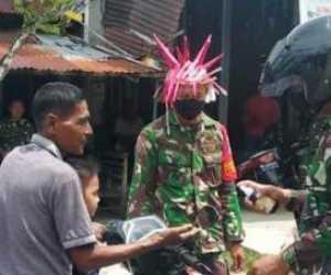 Aksi Unik TNI di Aceh Barat: Percaya Haba Lon! Corona Penyaket Ta'eun