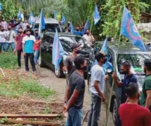 Gelar Aksi Tolak Omnibus Law, 80 Buruh Nagan Raya Menuju Banda Aceh