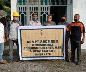 PT Sofindo Seunagan Bedah Rumah Warga Tak Layak Huni
