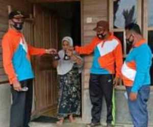 Desa Salur Bagi Masker Gratis Kepada Masyarakat, Sumber Anggaran Dana Desa