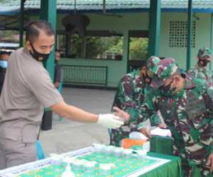 Puluhan Prajurit Kodim 0116 Nagan Raya Dilakukan Test Urine