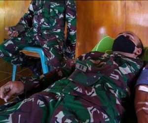 Dalam Rangka HUT TNI ke-75 Kodim 0114 Aceh Jaya Gelar Donor Darah
