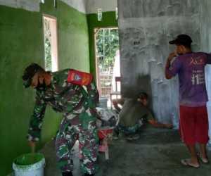 Pembangunan RTLH dalam Rangka HUT TNI ke 75 oleh Kodim Abdya Hampir Rampung Dikerjakan