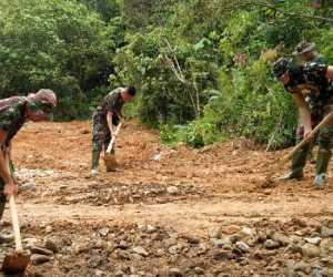 Satgas TMMD Kodim Abdya Pacu Proses Pembukaan Jalan 2.500 Meter