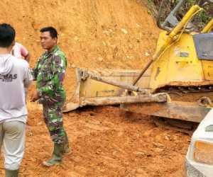 Satgas TMMD Kodim Abdya Pacu Pengerjaan Pemasangan Gorong-gorong Beton Jalan Babah Lhung