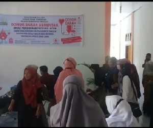 Cabang Dinas Pendidikan Aceh Wilayah Simeulue Sumbang 14 Kantong Darah ke PMI
