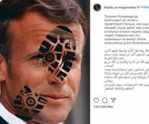 Doa Khabib untuk Presiden Prancis: Semoga Maha Kuasa Menghukum Makhluk Ini